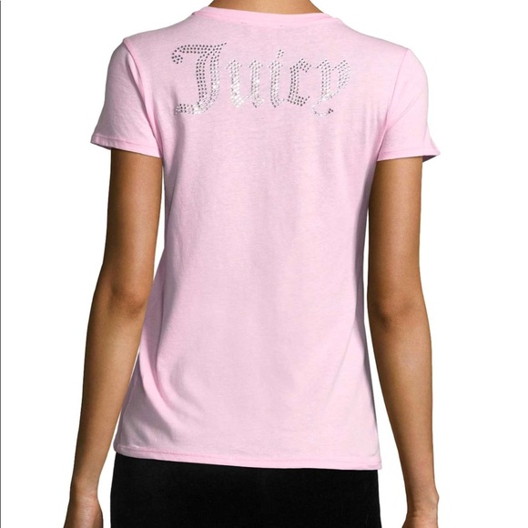 12a2dc1defc8 Juicy Couture pink gothic crystal tee shirt